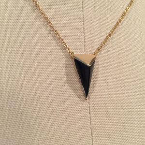 Alexis bittar Pyramid Pendant Necklace black